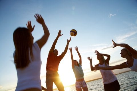 volleyball on the beach