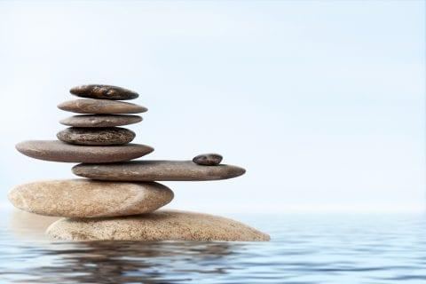 balance in blue